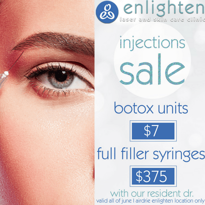 botox and cosmetic fillers promotion